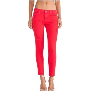 Current/Elliott The Stiletto Skinny Jeans in Red